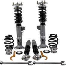 كويلوفر صدمة تبختر عدة لسيارات BMW E36 3 سلسلة M3 كوبيه صالون العقارية كويلوفرز الربيع Adj. ذراع التعليق + ذراع التحكم