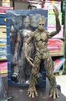 Tamanho grande Guardians Of The Galaxy Arvore Homem Avengers Action Figure 40 cm Groot BJD Modelo Colecao Presente com caixa de