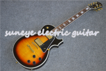 цена на Suneye Black Pickguard Custom Electric Guitar In Vintage Sunburst Left Handed Guitar Custom Available Free Shipping