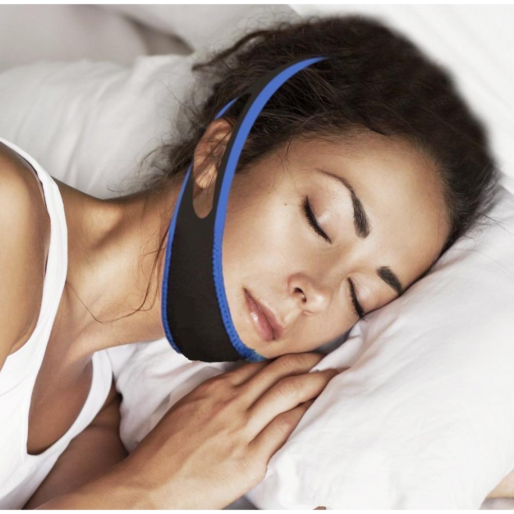 Anti Snore Stopper Snoring Chin Strap Belt Anti Apnea Jaw Solution Sleep Support Apnea Belt Sleeping Mouth Guard Tool