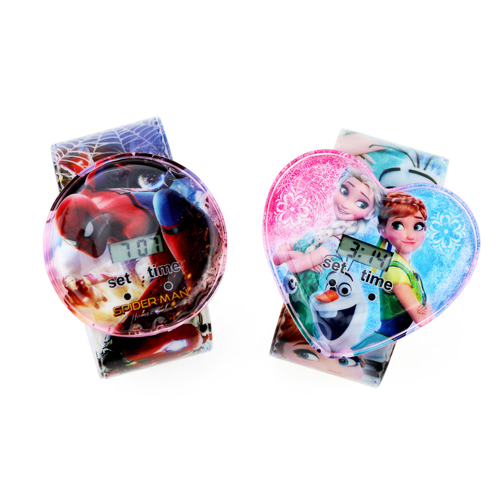 Baby Toys Children's Watches For Boys Girls 3D Cartoon Spiderman Kids Watch Mixed Style Electronic Clock Reloj Infantil