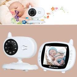 3.5 polegadas LCD de Vídeo Sem Fio Do Bebê Monitores Dormir com Câmera Digital Infravermelho Temperatura Monitoramento babá eletrônica com câmera