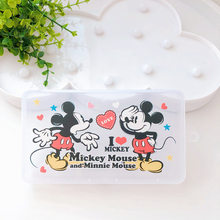 Disney Mickey Mouse punto juguete historia Woody Buzz Lightyear PP máscara caja de almacenamiento de estudiante a prueba de polvo máscara niños divertido juguete de regalo