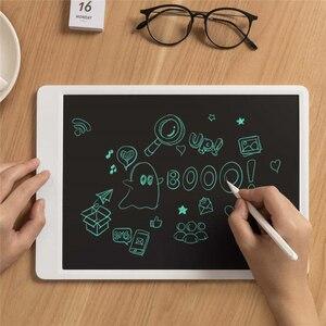 """Image 2 - Xiaomi mijia lcd tablet de escrita em estoque com caneta 10/13. placa gráfica de caligrafia eletrônica desenho digital 5 """", bloco de mensagem"""