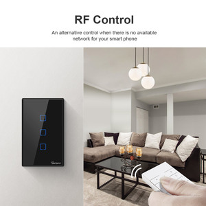 Image 4 - Itead SONOFF T2 T3 US TX Smart Wifi Wall Touch Switch With Border Smart Home Wifi Light Switch 1/2/3 Gang RF 433Mhz Remote