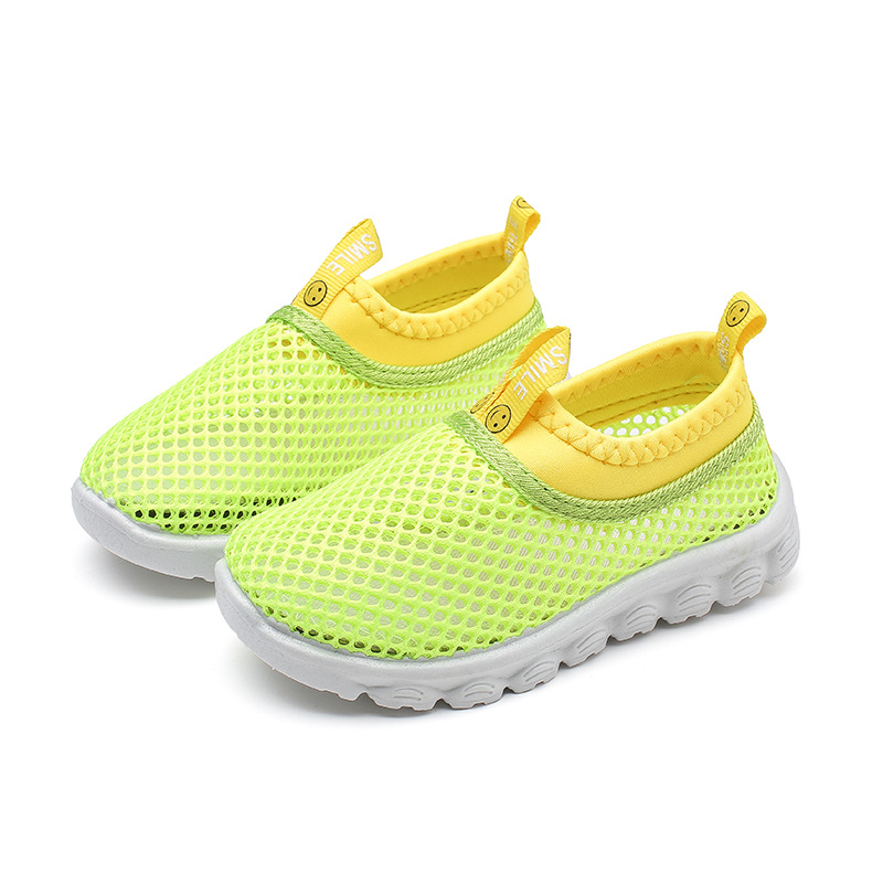 Bright Candy Color Sandals Kids Children Summer Beach Shoes For Toddlers Boy Girl 1-11 Years Old Boys Girls Net Fabric Air Mesh