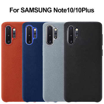 Case for Samsung Note 10 Plus Case Genuine Suede Leather Metal button Fitted Case for Samsung Galaxy Note 9 10 Case - Category 🛒 Cellphones & Telecommunications