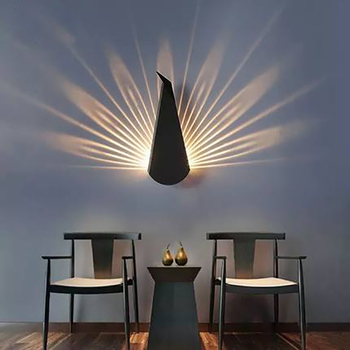 Modern Peacock Tail Wall Lamp Indoor Lighting Led Wall Light for Home Bedroom Study Hallway Corridor Wall Sconce Light Fixtures modern wall lamp led wall lights bedroom dear wall sconce kids children baby room lamp light fixtures home lighting