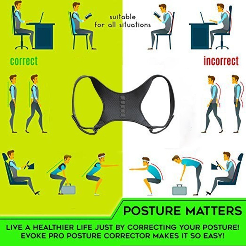 Image 5 - Magnetic Therapy Back Brace Posture Corrector for Men and Women Under Clothes Back Pain Relife Shoulder Support Belt W1003SHC-in Braces & Supports from Beauty & Health