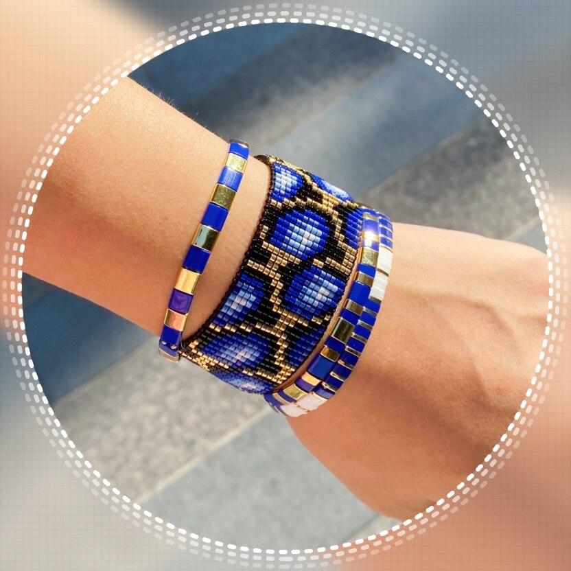 Go2boho Tila Beads Bracelet Women Blue Tortoise Pattern Bracelet MIYUKI Jewelry Summer Boho Chic Pulseras Mujer 2019 Bileklik 20