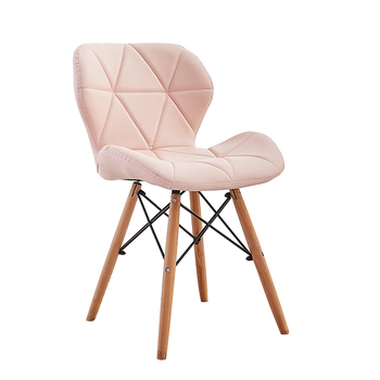 H1 1pcs Modern minimalist dining chair home restaurant chair computer chair solid wood Nordic living room chair Make Up Chair