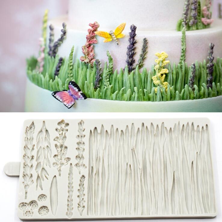 1pc lavande gâteau moule fondant moule gâteau décoration outils silicone moule bricolage cuisine cuisson outils FTM1785