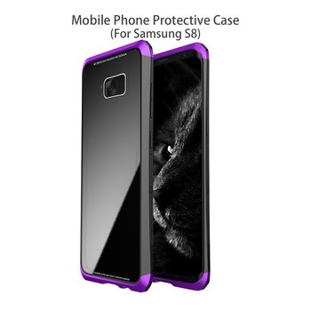 LUPHIE Mobile Phone Protective Case Fashion Design Toughened Glass Hard back cover For Samsung Galaxy Note8 S8 S8 Plus cases