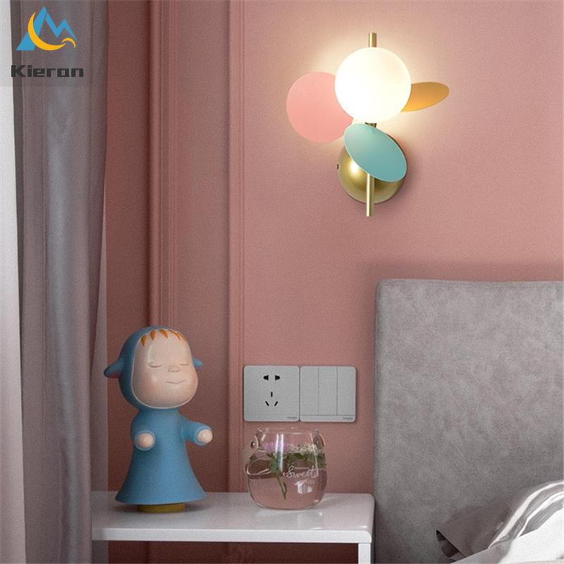 Современные утончённые деревянные часы с бусинами из цветного стекла светодиодный настенный светильник для гостиной спальня декоративный настенный светильник детская комната Светильник ing настенный светильник