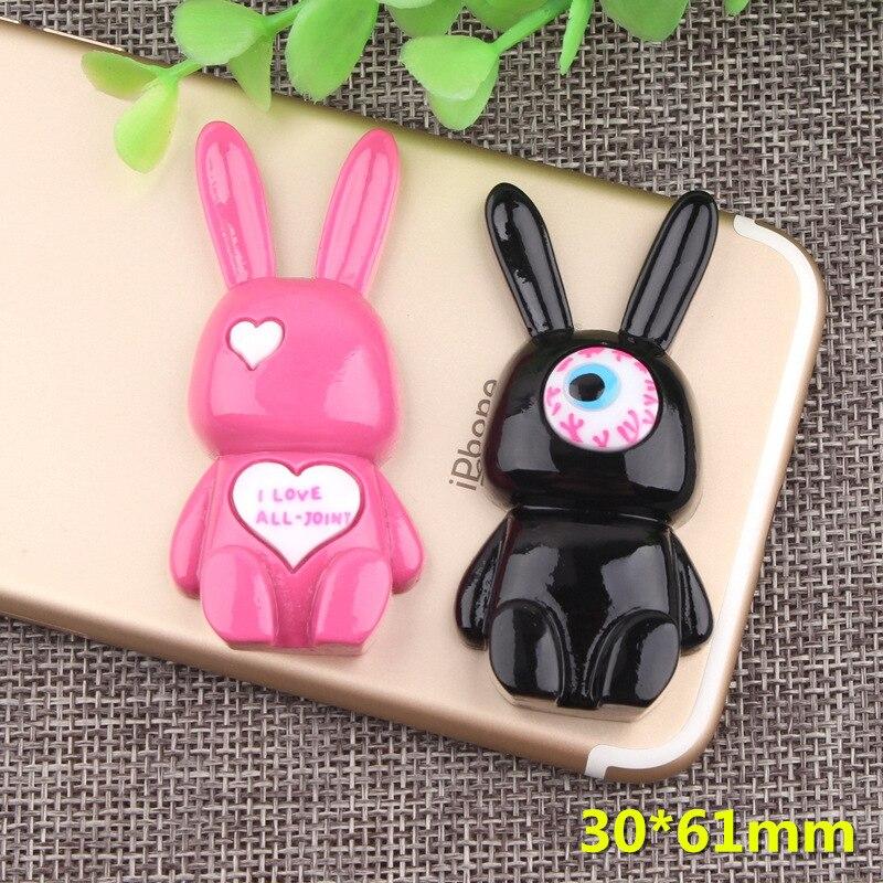 5Pcs Cute Rabbit Resins Decoration Crafts Flatback Cabochon Scrapbooking Fit Phone Embellishments Diy Accessories 30*61mm