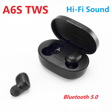 A6S Wireless Earphones Bluetooths 5.0 Earbuds Ture Stereo TWS In-ear Sports Headset for iPhone Huawei Samsung Xiaomi with Mic(China)