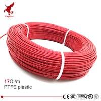 Multiuso 24k 17ohm ptfe cabo de aquecimento de fibra de carbono 5 v-piso de aquecimento de piso de 220 v de alta qualidade fio de aquecimento infravermelho piso quente
