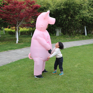 Image 3 - Inflatable Pink Pig Costume Adult Kids Dress Anime Cosplay Costumes Thanksgiving Christmas Pig Cute Funny Paty Cosplay Clothes