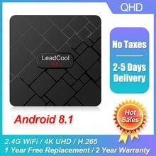 Leadcool Мини ТВ приставка android 81 rk3328a full hd 1080p