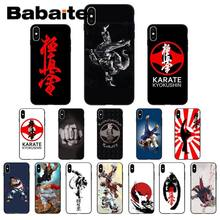 Für iphone 11pro max Kyokushin Karate Symbol Weiche Silikon TPU Telefon Abdeckung fall für iphone X XS MAX 6 6S 7 7plus 8 8Plus 5 5S XR(China)