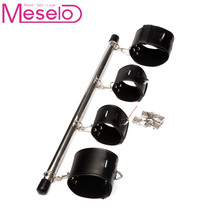 Meselo Wrist Ankle Spreader Bar Handcuff Ankle Cuff with Padlock and Key Bondage Harness BDSM Sex Toys For Couples Erotic Toys
