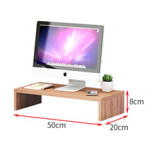 Simple style home computer monitor heightened office neck guard computer base desktop sundries finishing storage table(China)