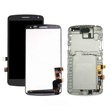 1Pcs Top quality new For LG K Series K5 X220 X220MB X220DS LCD Display Touch Screen Digitizer Assembly,Black,No/with Frame недорого