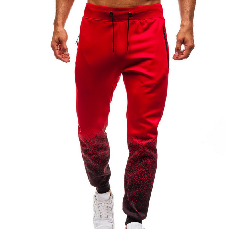 Men Fashion Gradient Printing Sweatpants 2019 New Men Loose Drawstring Casual Trousers Autumn Outdoor Joggers Sports Harem Pants