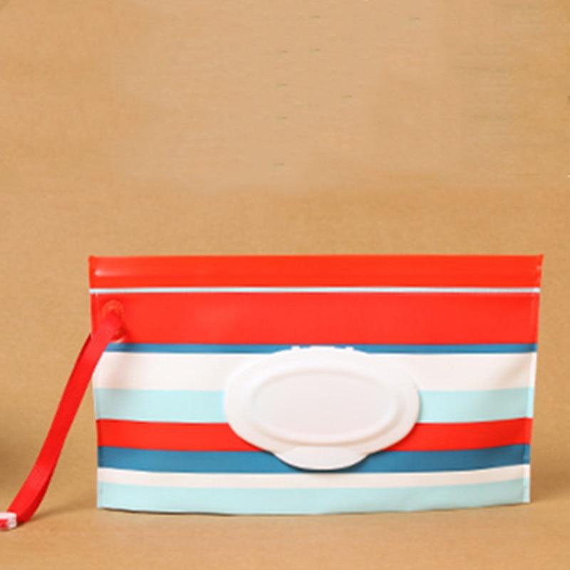 1 клатч и чистые салфетки, чехол для переноски, экологически чистые влажные салфетки, сумка-раскладушка, косметичка, удобная для переноски, с застежкой, контейнер для салфеток - Цвет: B