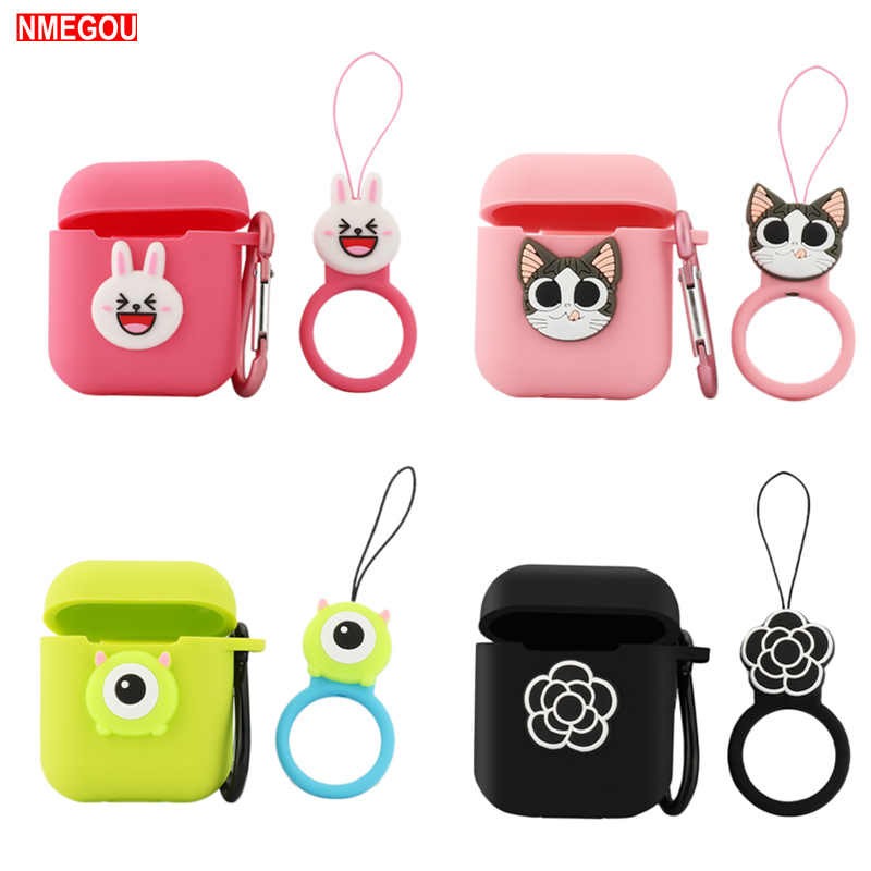 Cartoon Cute Soft Case Earphones for Apple Airpods I10 Tws Bluetooth Wireless Headphone Protective Cover for Air Pods Ear Pods