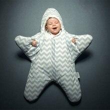 Взрывные Модели Морская Звезда геометрический спальный мешок с узором зима хлопок плюс бархат детские ноги спальный мешок объятия