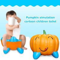 Baby Potty Toilet Seat Cute Pumpkin Training Pan Children pot Kids Bedpan Comfortable Backrest Toilet for Kids Girls Boys