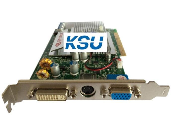 AGP 8X NEW nVIDIA GeForce FX5500 256MB DDR 128Bit VGA DVI Grpahic Video Card