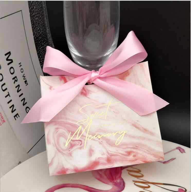 25Pcs Rosa Marmor Linien Candy Tasche Box für Ereignis Party Supplies/Hochzeit Gefälligkeiten Geschenk Boxen und Wenig Schmuck verpackung Dekoration