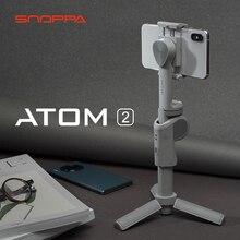 Snoppa atom 2 smartphone cardan 3 axis automático dobrável handheld estabilizador atom2 cardan para iphone huawei samsung xiaomi gopro