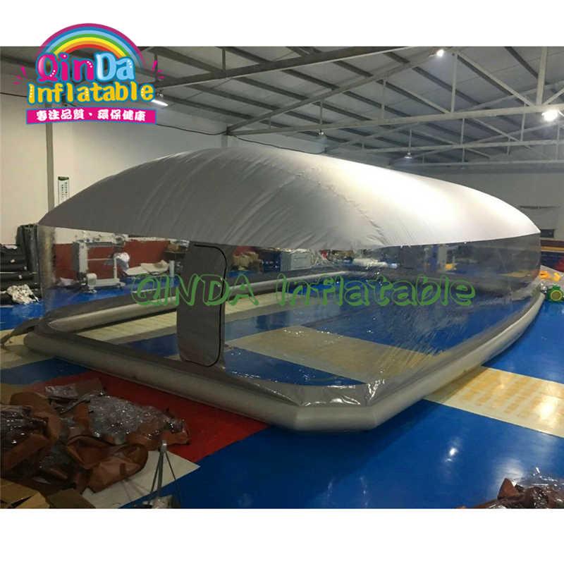 2019 インフレータブルスイミングプールドームテント防塵冬防水インフレータブルプール天井バブルドームテント