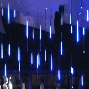 30/50cm 8 Tube Meteor Shower Rain LED String Lights Christmas Tree Decorations Street Garland for Outdoor Decor New Year Navidad