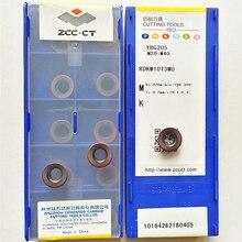 ZCC.CT RDKW10T3MO YBG202/RDKW10T3MO YBG205 CNC carbide inserts 10PCS/BOX  QCH-32-RD10-M16-03 Replaceable tool head For   RDKW10