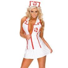 Sıcak seksi beyaz doktor hemşire üniforması kostüm yetişkin kadınlar kıyafet Cosplay elbise iç çamaşırı seti egzotik giyim egzotik kostümleri