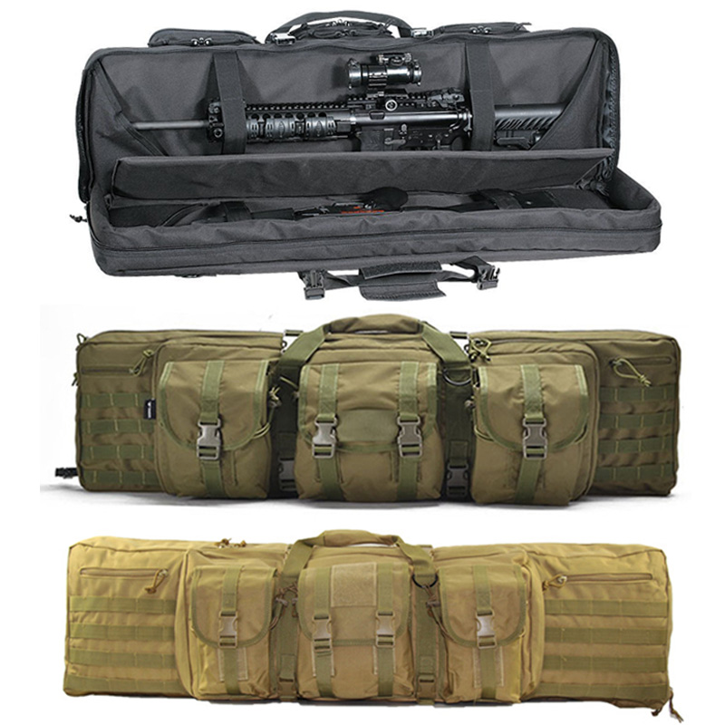 120cm 47 Inch Military Rifle Gun Bag Case Backpack Airsoft Double Rifle Bag Hunting Shooting Portable Gun Carrying Backpack