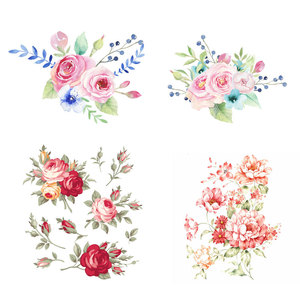Flower Patches New Design Heat Transfer Washable Clothing Deco Badges Diy Accessory Iron-On Transfer