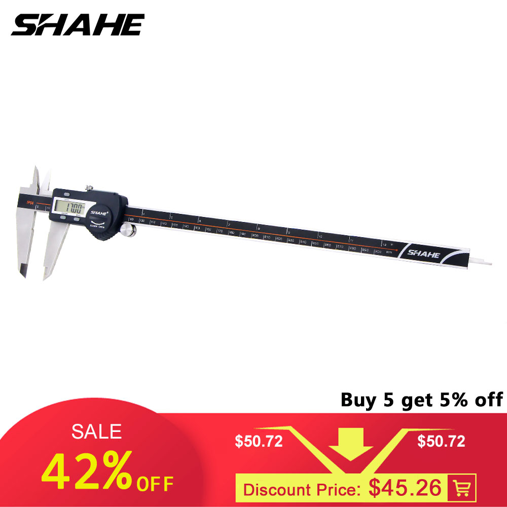 SHAHE Precisão Eletrônica Digital Caliper 300 milímetros Eletrônica Digital Caliper Vernier Paquímetro Digital de Paquímetro de Aço