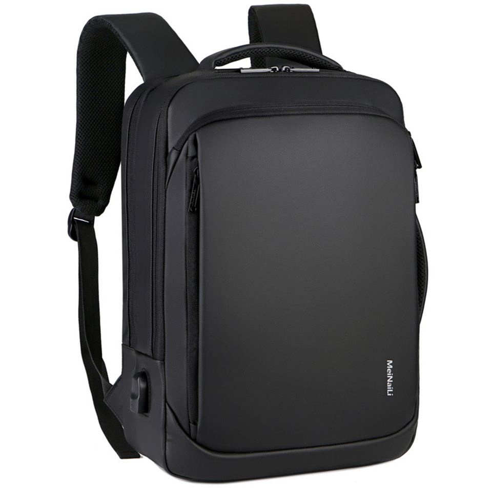Litthing Laptop <font><b>Backpack</b></font> Mens Male <font><b>Backpacks</b></font> Business Notebook Mochila Waterproof Back Pack USB Charging Bags Travel Bagpack image