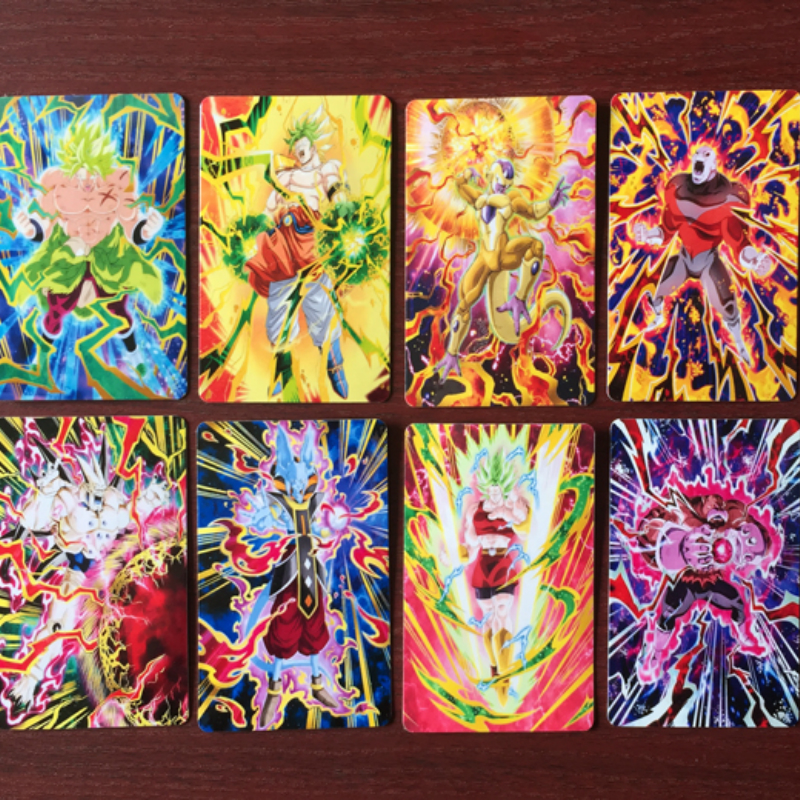 250pcs/set Dragon Ball Super Saiyan Goku Jiren Poker Game Action Toy Figures Commemorative Edition Collection Cards