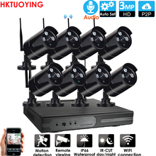 Nvr-Kit WIFI Cctv-System Ip-Camera Audio Night-Vision Security Outdoor 8CH Wireless Play