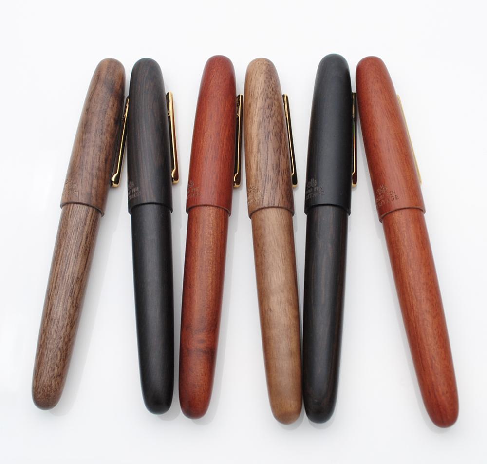 Перьевая ручка Jinhao ручной работы из 9056 натурального дерева M/F чернильная ручка Nib с преобразователем