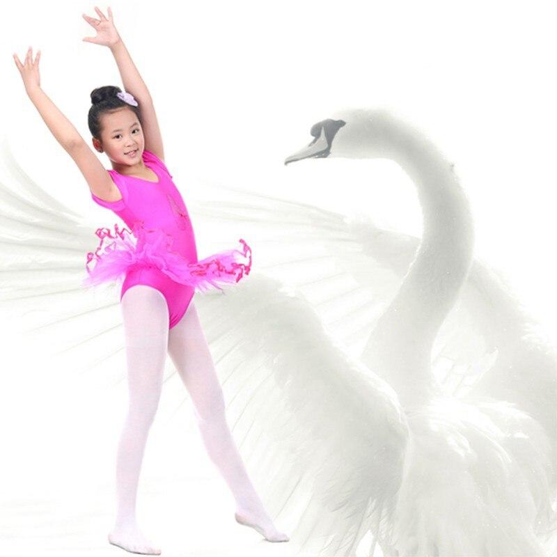 Girls Ballet Dress Princess Gymnastics Dancing Wear Performance Dance Dress Dancer Leotard Short Sleeve Dress Ballet W3