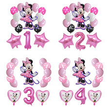 14 pçs mikcey minnie mouse 32 polegada número balões festa de aniversário decorações do chuveiro do bebê crianças festa mickey balão de ar globos