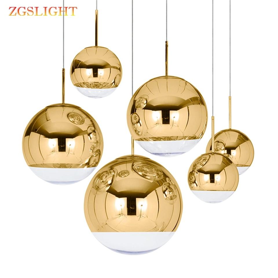 Nordic LED Glass Pendant Lights Lighting Gold Silver LOFT Restaurant Bar Industrial Pendant Lamp Kitchen Fixtures Hanging Lamp