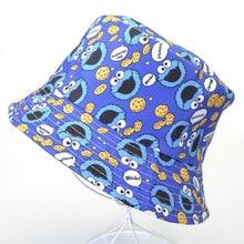Chapéu homem de pesca do verão, chapéu feminino do desenho animado chapéus de rua sésame para unissex, chapéu de balde, impressão vintage, chapéu de pesca